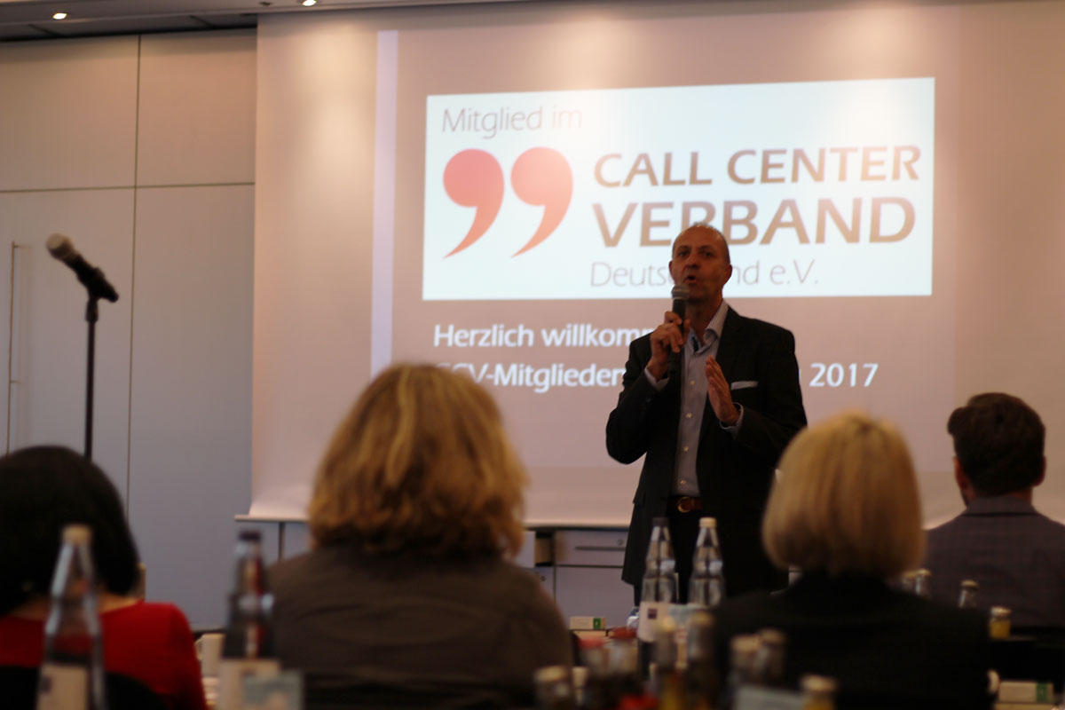Call Center Verband CCV Jahrestagung 2017 tdm sarstedt manfred stockmann